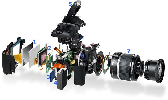 SLR camera inside
